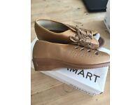 Ladies Gold Lace-up Damart Shoe