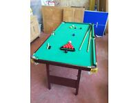 Pool Table (Folding) & Snooker Balls