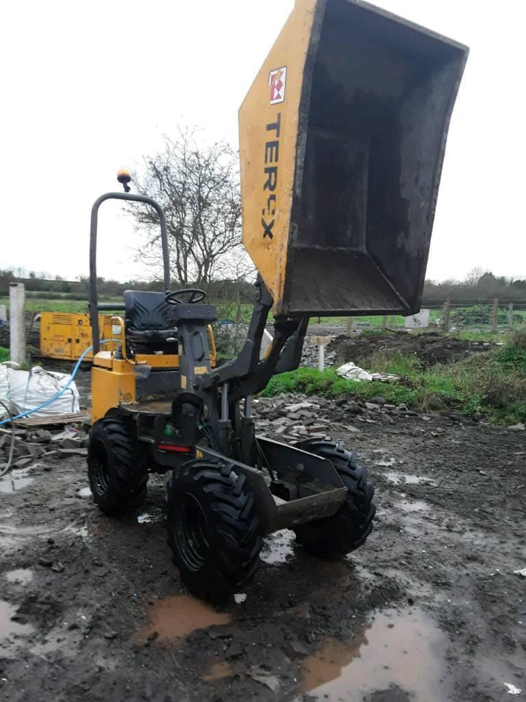 terex 1 ton hi lift dumper also 3 ton terex dumpers