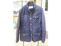 Navy Joules quilted ladies jacket in very good condition Size 20