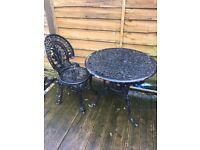 Lovely Ornate Cast Table & Chair Garden / Patio Can Deliver ring malc
