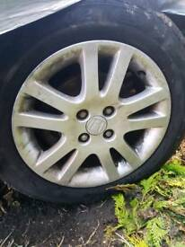 2001 - 2005 HONDA CIVIC SE 15 INCH ALLOY WHEELS WITH GOOD TYRES