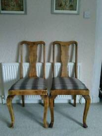Newly refurbished and reupholstered chairs