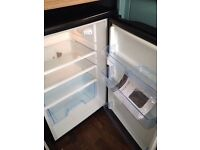 Black undercounter fridge