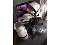 Babystyle egg arctic white pram pushchair