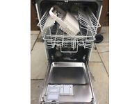 Integrated dishwasher Zanussi slimline