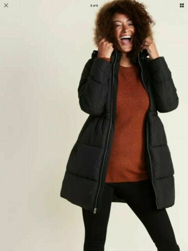 Old Navy Maternity Hooded Frost-Free Long-Line Puffer Jacket L Large #480193