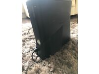 Xbox 360 black slim with 2 controllers