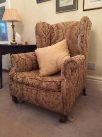 Vintage wing back armchair from 1910
