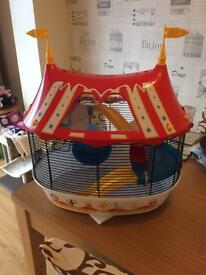 Circus hamster cage