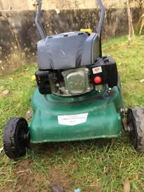 Petrol mower push type.
