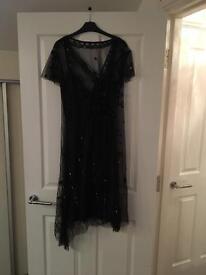 Lovely black beaded party dress