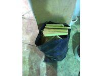 Firewood in bag old pallets ect