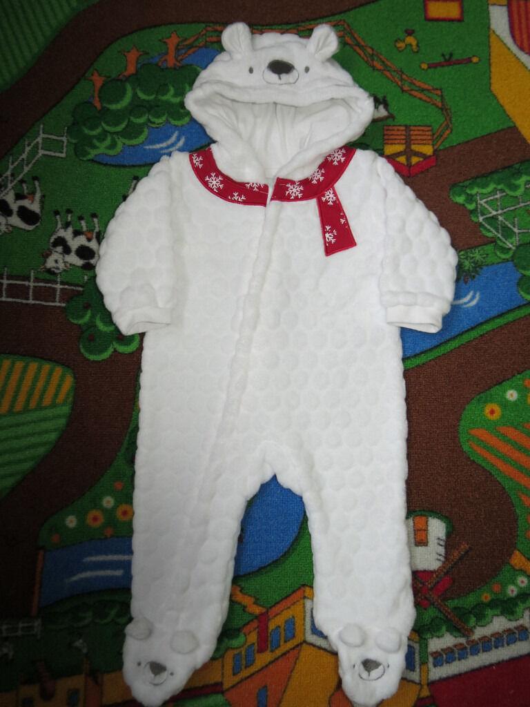 bee950e87143 Baby Girls Boys Clothes White Teddy Unisex Snowsuit