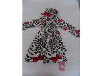 Hello Kitty Hooded Dressing Gown. Aged 7-8yrs. Brand new with tags. No offers. Buyer to collect.