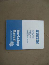 Hardback BMC workshop manual for A40, A50, A55
