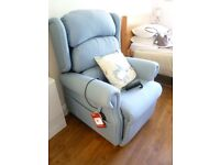 Electric Chair Wall-hugger rise and recline Chair - AS NEW