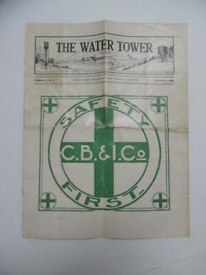 1919 Chicago Bridge Iron Co Water Tower Employee Magazine Construction Antique