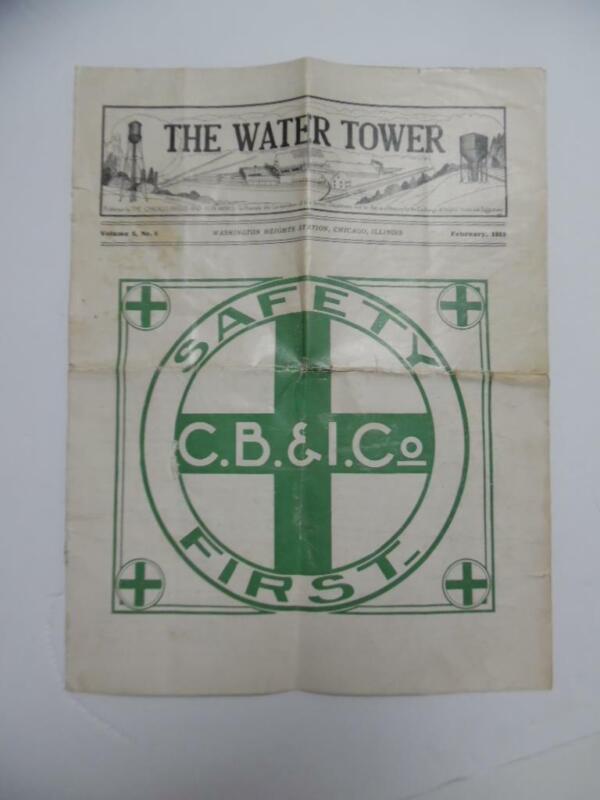 1919 Chicago Bridge & Iron Co WATER TOWER Employee Magazine Construction Antique