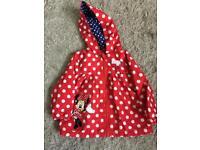 Minnie Mouse raincoat age 9-12 months