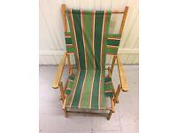 Fold away deck chair