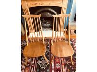 Ercol Quaker Light Elm Blonde Chairs