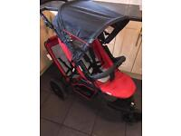 Hauck double Pushchair Freerider Tandem Stroller, Red