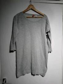 H&M oversize long sweater with 3/4 sleeves, size 8