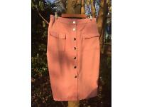 Misguided baby pink pencil skirt M/12