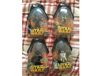 4 action figures from Star Wars Episode III: Revenge Of The Sith (2005). Almost perfect condition.
