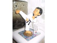 Handmade Traditional Korean Tae Kwondo Kicking Doll Figure