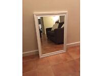 Large White Mirror - 104 cm x 74cm