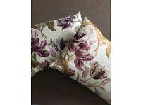 4x Laura Ashley cushions, curtains, throw