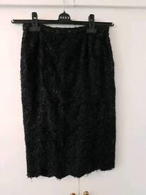 Black Embellished Skirt