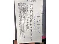 "Henley Festival tickets - Saturday night (Curtis Stigers), Grandstand ""A"" tickets"