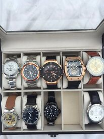 SELECTION OF WATCHES RICHARD MILLE BREITLING ROLEX OMEGA TAGE HEUER