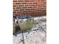 Vintage Stone planters x 2