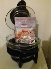 Halogen cooker and cook book