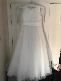 John Rocha bridesmaid dress & cardigan size age 11