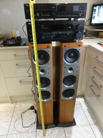 Pioneer system with Massive big speakers amp Cd player remote-controls