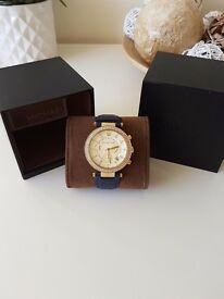 Gorgeous Michael Kors Parker watch. Navy strap. Great condition and original box included