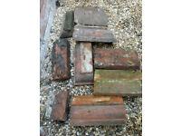Reclaimed plinth bricks ...eight/nine inc some corners,