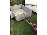 Small galvanised trailer