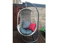 Pod Hanging Chair with cushions