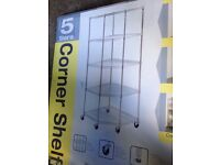 Quality Constructed Corner Chrome Racking Garage Home Business Catering Standard