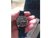 Tissot Visodate men's watch with Milanese and black leather straps