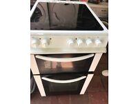 White Electric Ceramic cooker.,50cm. Ex display