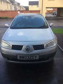 Renault Megan 03 11 mts mot great condition needs engine