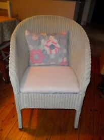 Vintage Lloyd Loom type arm chair