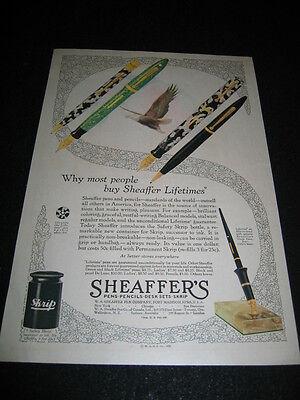 1929 Sheaffer's Ink Pen Skrip Ad Advertisement Magazine Print